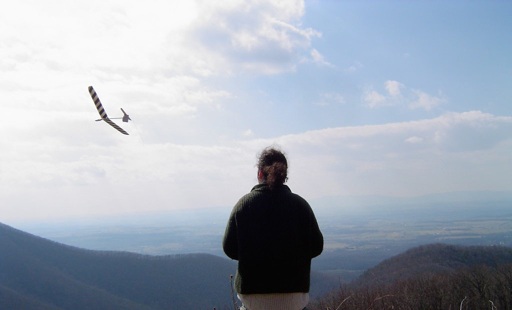 Flying an unpowered sailplane off the Blue Ridge Mountains. This was an excellent day of my life.