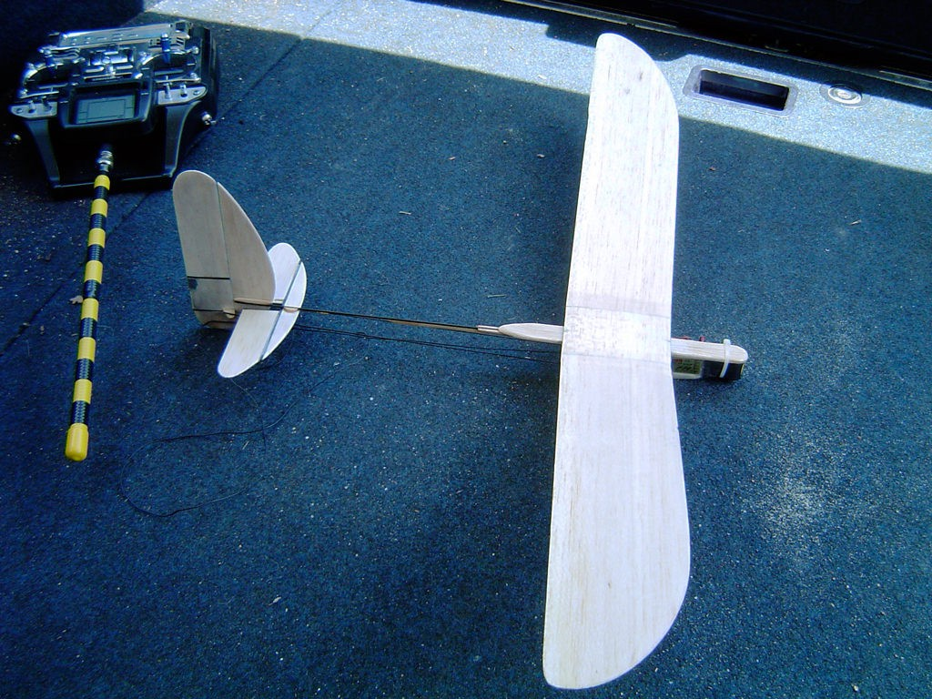 The Radio Chucker was my attempt at making the equivalent of a cheap, toystore balsa model with radio control. It flew in one thermal, but is only about as efficient as its inspiration.